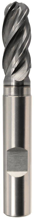 PreMill® VHM-HPC-radiusfrees met vrijloop, ALCRONA PRO-gecoat