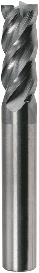 PreMill® VHM-HPC-frees, 4-snijder, voor Titanium, MnT1-gecoat