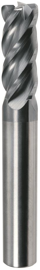 PreMill® VHM-HPC-frees met hoekradius, 4-snijder, voor Titanium, MnT1-gecoat